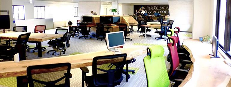 紀州木材(天然木)をふんだんに使用したオフィスづくり